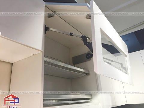 Hướng dẫn cách lắp đặt tay nâng 2 cánh tủ bếp Blum