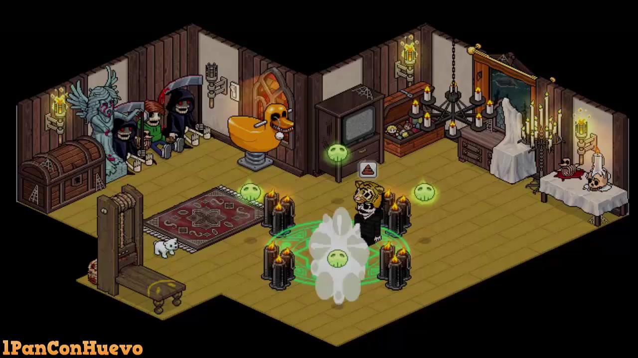 Habbo fantasy casa de terror parte 1 youtube for Casa moderna habbo