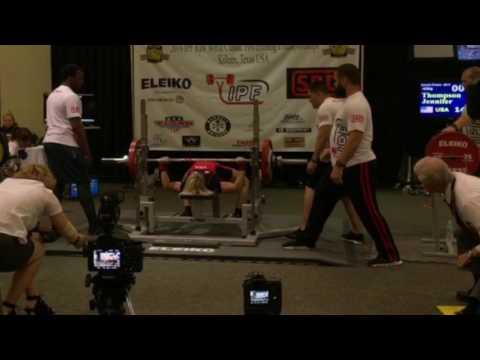 63kg Powerlifter Jennifer Thompson Just Benched 325 lbs