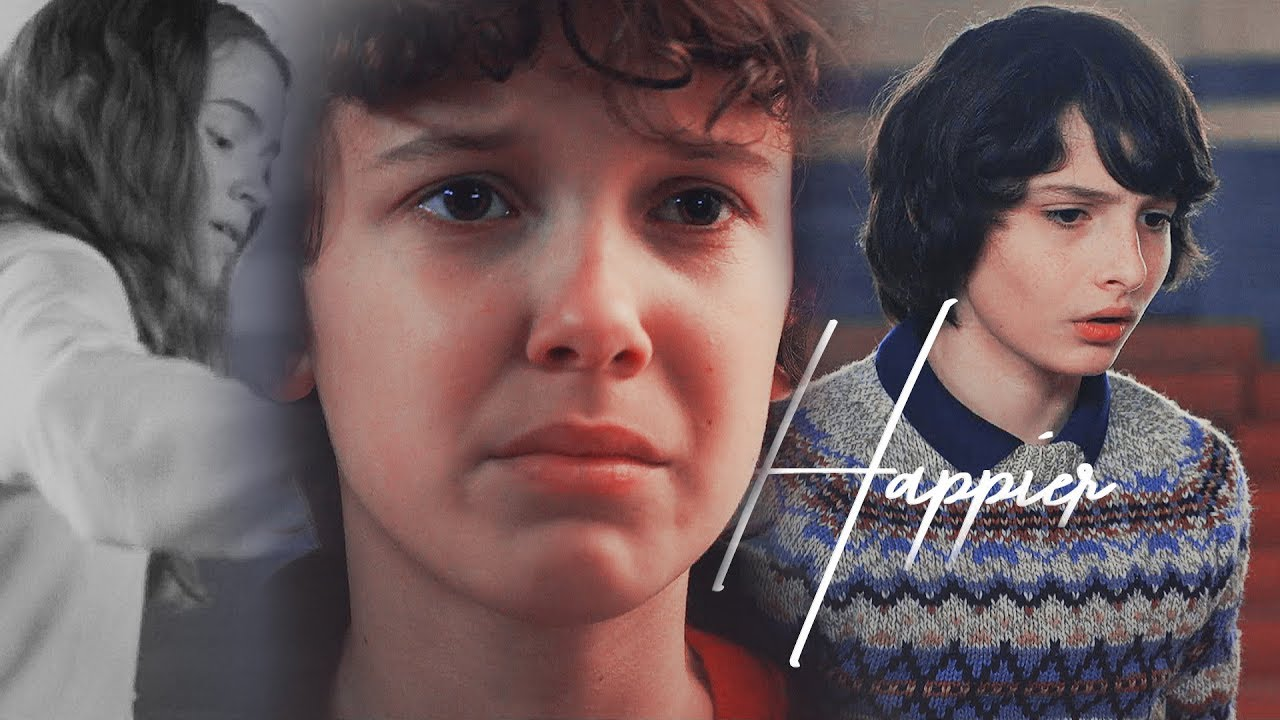 mike + eleven (+max) - happier (stranger things 2 +2x3)