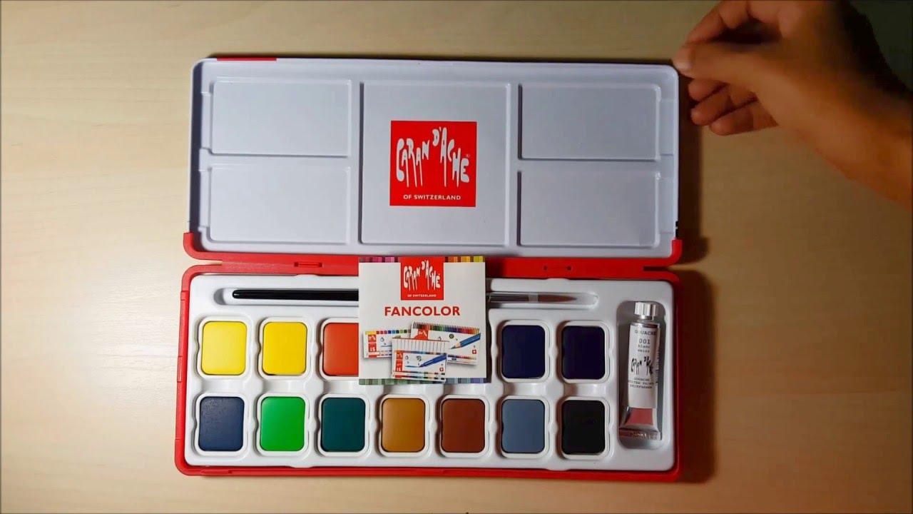 Caran dAche Fancolor Tempera 15 Colors