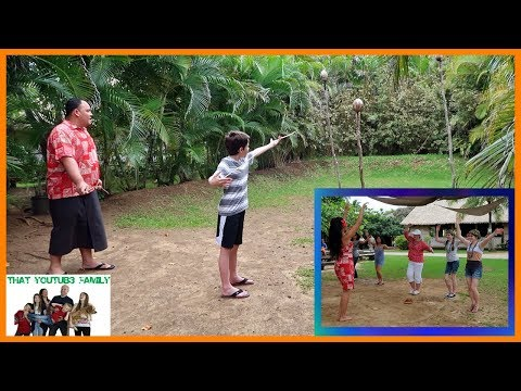 Spear Throwing And Dancing At The Polynesian Cultural Center / That YouTub3 Family