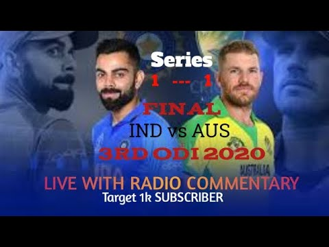 IND Vs AUS 3rd ODI Live . Live From Bangaluru .. Live With Radio Commentary..