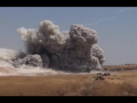 Российские военные взорвали подземный город боевиков в Сирии