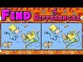 Find 5 Differences - Cartoon. Only People With Literal Eagle Eyes Can Spot The Difference.