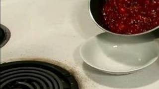 How To Make Cranberry Sauce : How To Chill Raspberry Vinegar Cranberry Sauce