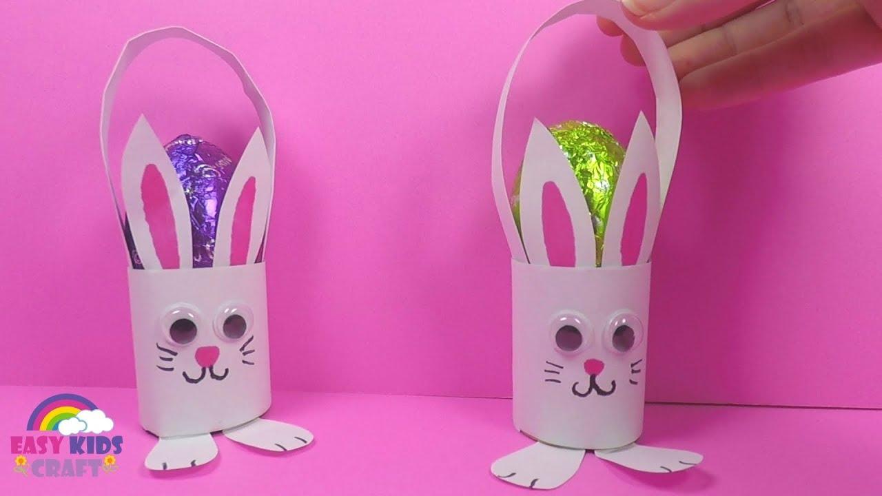 Paper Bunny Easter Egg Basket Paper Crafts For Kids Youtube
