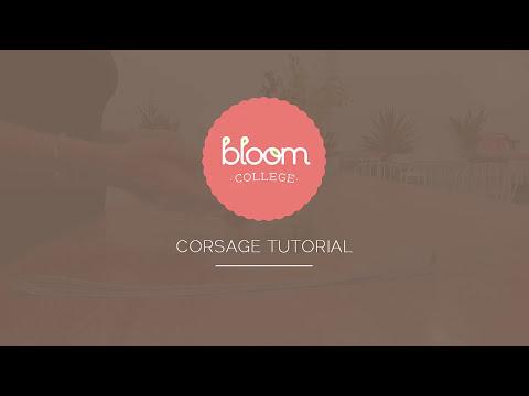 Simple Wrist Corsage Flower Arrangement Tutorial