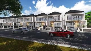 3D Animation Modern House in Jakarta