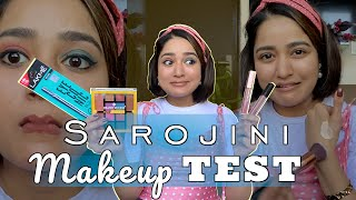 Trying SASTA Makeup From SAROJINI Nagar for the First Time | Is it WORTH IT?