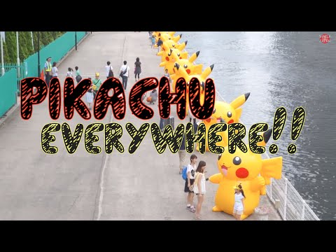 PIKACHU Festival in Yokohama, Japan!! 横浜ピカチュウイベント