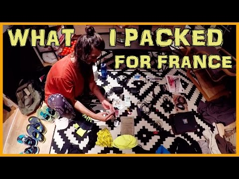 EVERYTHING I PACKED GOING TO FRANCE: LIGHTWEIGHT TRAVEL
