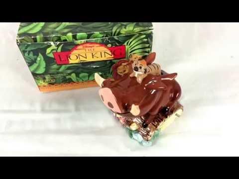 Schmid Disney Lion King Pumbaa Timon Music Box