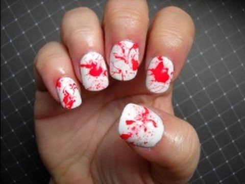 Dolly's Hauntingly Halloween Nails - Blood Spatter/Dexter ...
