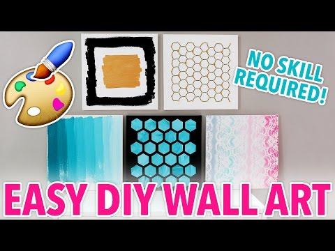 5 DIY Wall Art Designs Anybody Can Make! | @karenkavett