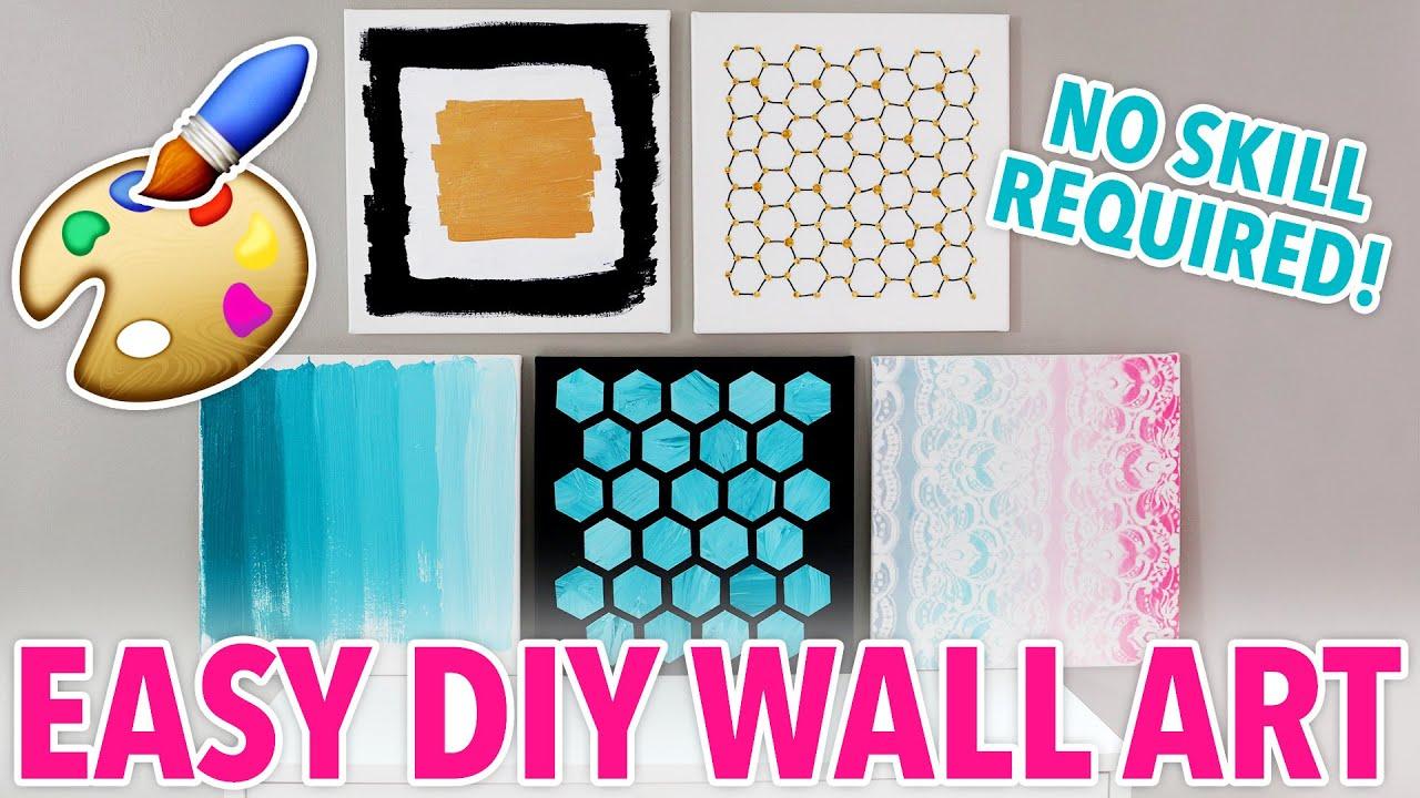 5 DIY Wall Art Designs Anybody Can Make! | @karenkavett   YouTube
