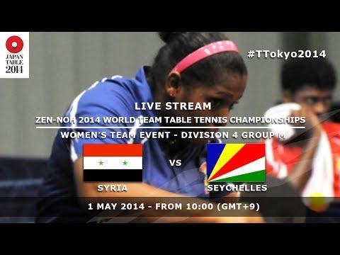 #TTokyo2014: Syria - Seychelles