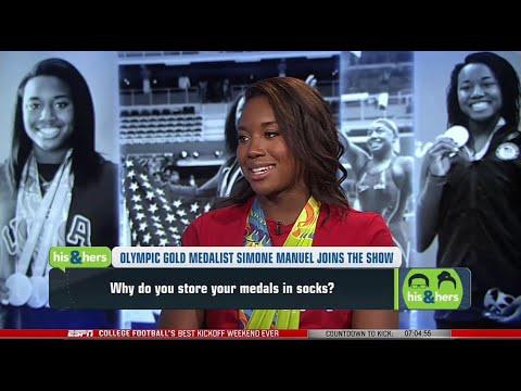 Simone Manuel Full Interview On Serena Williams & Olympics 2016