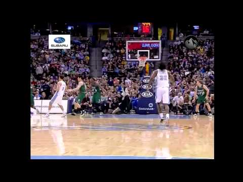 Kenneth Faried Goes Up For Dunk, Larry Sanders Down Hard - Bucks @ Nuggets 2/5/13