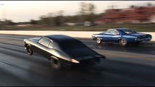 MURDER NOVA (Street Outlaws) vs The Goat - INSANE Triple Wheelie!