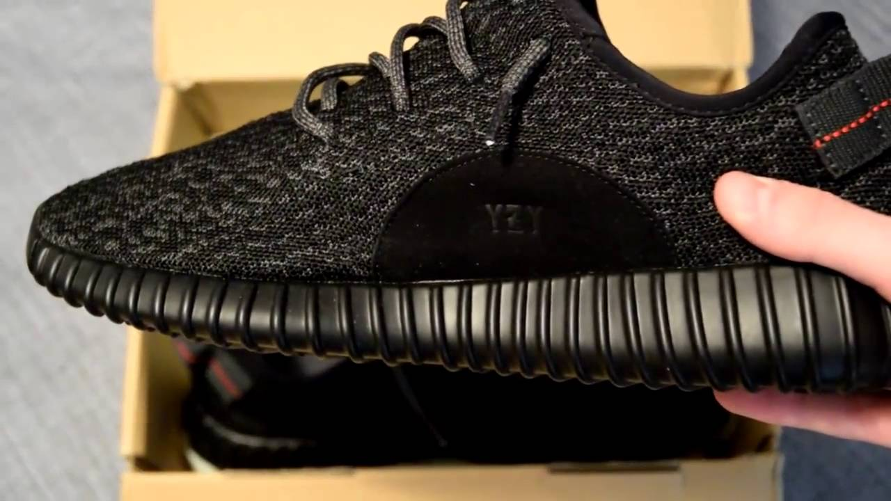 638b8f25fa19 Yeezy Boost 350 DHgate Replica Pirate Black Unboxing and Review ...