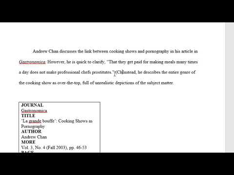 MLA in text citation video - YouTube