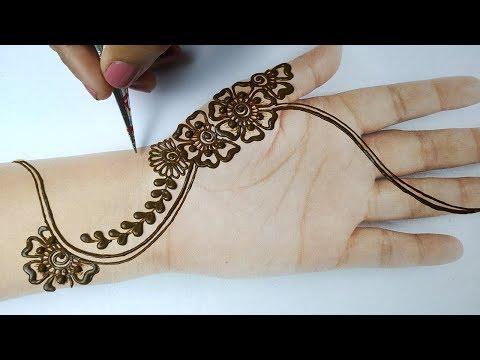 Latest Mehndi Design Trick for Hands - Easy Mehndi Design for Beginners,मेहँदी लगाने का आसान तरीका