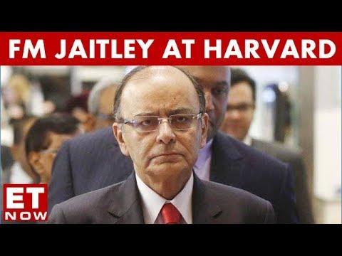 FM Arun Jaitley Speaks At Harvard University