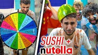 SUSHI + NUTELLA! la RUOTA DELLE PENITENZE sui MONDIALI! #3ACTION