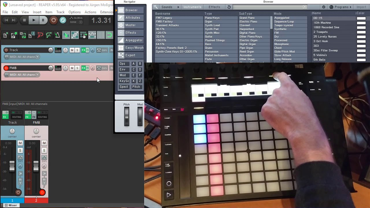 DrivenByMoss 4 Reaper - Clips, Scenes and Sequencers!