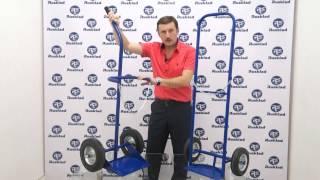 видео тележка для перевозки грузов двухколесная
