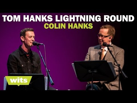 Colin Hanks  'Tom Hanks Lightning Round'  Wits