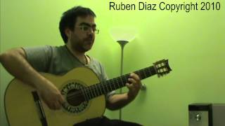 """ Monasterio de Sal "" 11 by Paco de Lucia Ruben Diaz flamenco guitar lessons (CFG) How to practice"