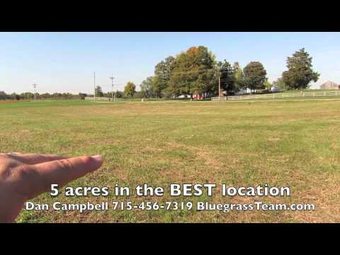 Gentleman's farm 5 acres, land lot GREAT location. Nicholasville, KY Kentucky