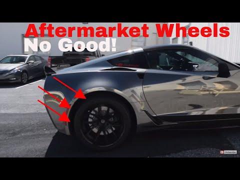 Aftermarket wheels on Chevy C7 Grandsport Corvette