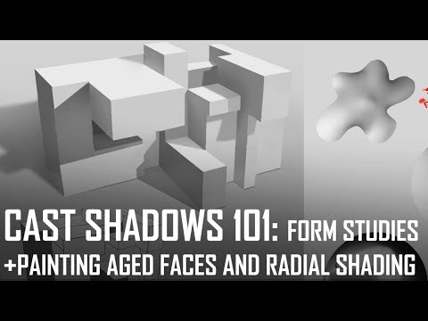 Critique Hour! Cast Shadows 101 in Form Studies + Painting aged faces and radial shading!
