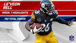 Le'Veon Bell's Big Game w/ 192 Total Yards! | Bengals vs. Steelers | Wk 7 Player Highlights