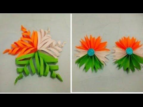 Easy Republic Day Craft Diy Republic Day Special Decoration