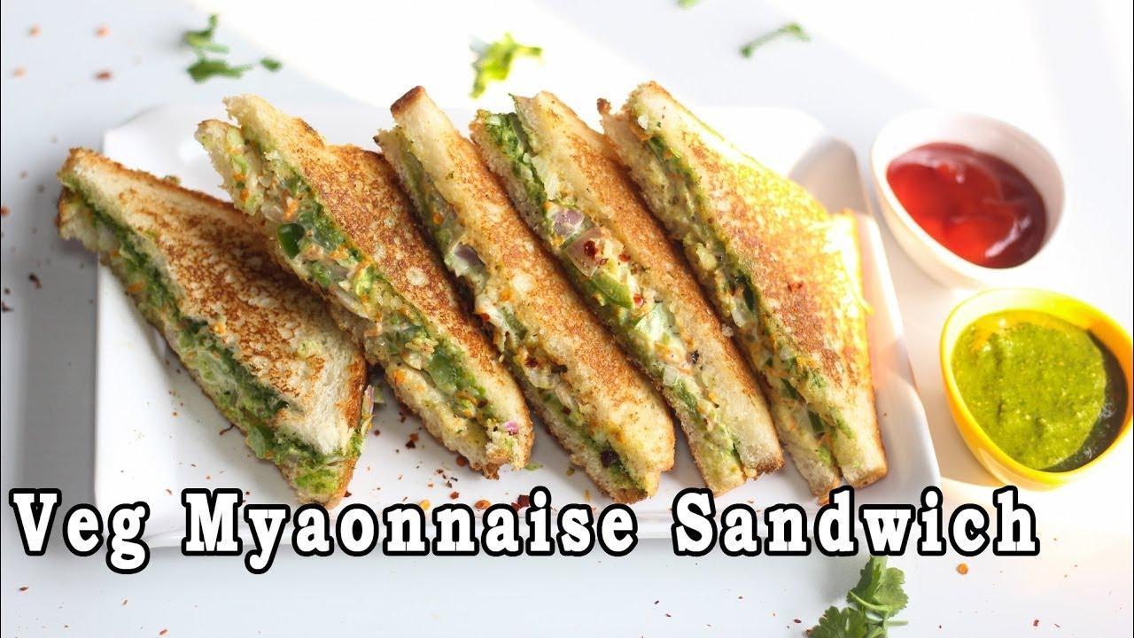Veg mayonnaise sandwich recipe for breakfast mintsrecipes 170 youtube premium forumfinder Choice Image