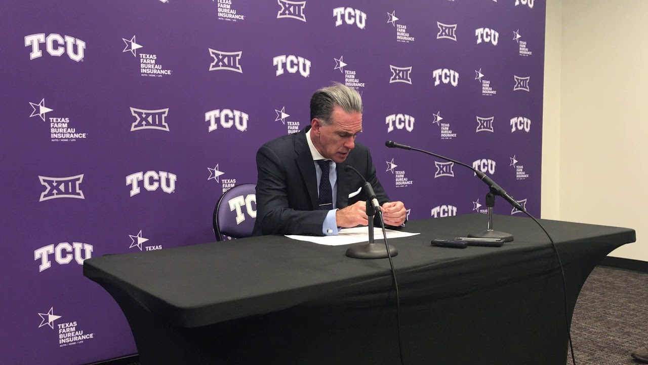 TCU-William & Mary postgame: Jamie Dixon - YouTube