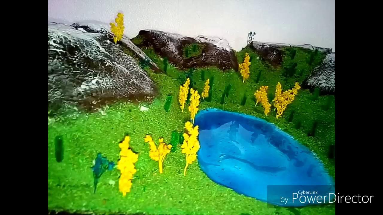 Maquetas efecto de monta as nevadas y lago con gelatina for Como hacer una laguna
