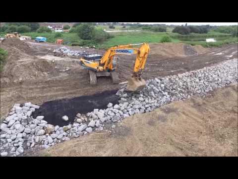 New coastal defences under construction at Portsea