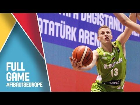 Latvia v Slovenia - Full Game - CL 9-16 - FIBA U18 European Championship 2016