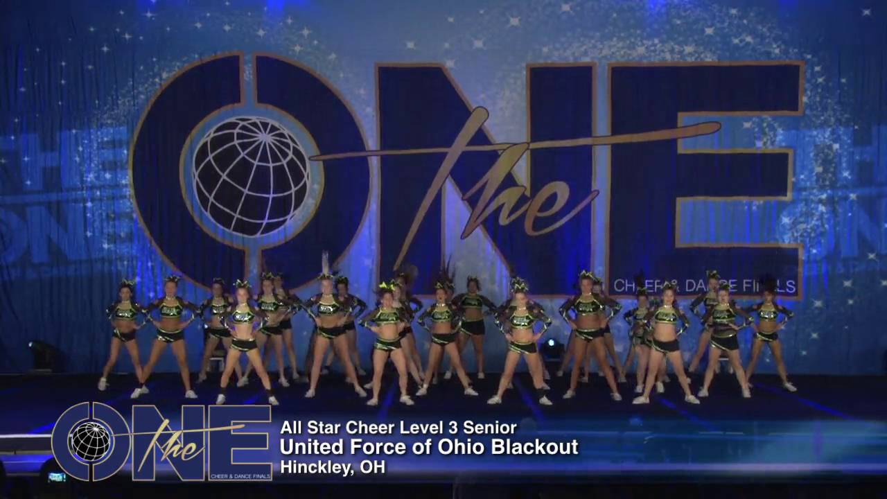 f7062eacb102 United Force of Ohio Blackout All Star Cheer Level 3 Senior 2016 THE ONE  FINALS