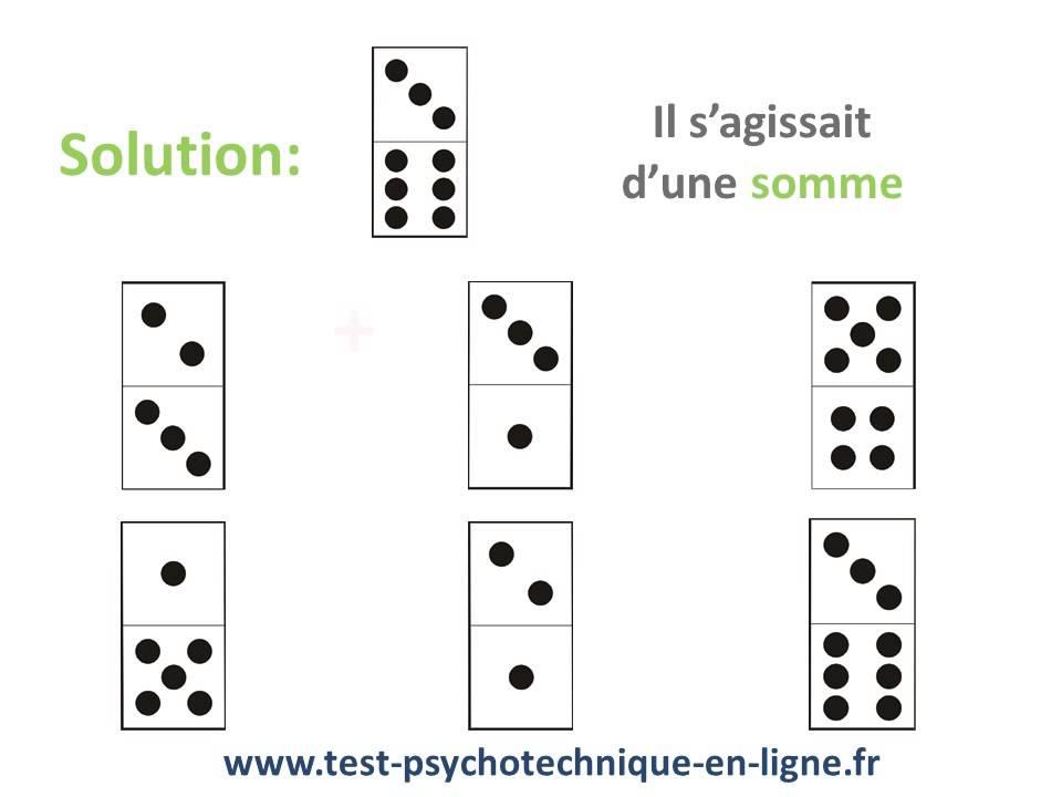 test psychotechnique domino