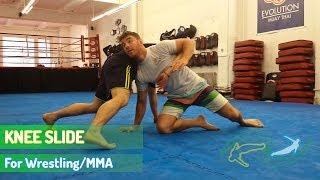 Knee Slide - Wrestling for MMA - How to finish your double leg takedown when opponent sprawls