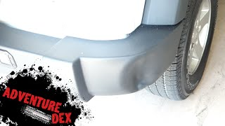 How to remove a dent in a Jeep Wrangler bumper