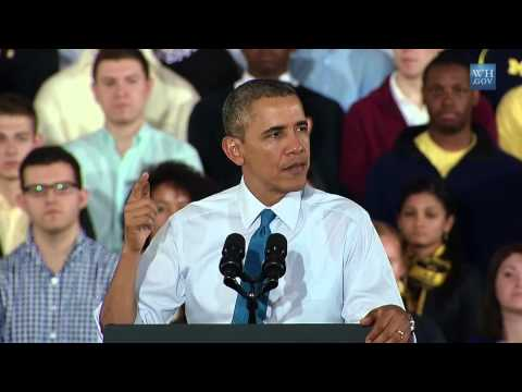 President Barack Obama on the Minimum Wage in Ann Arbor, Michigan
