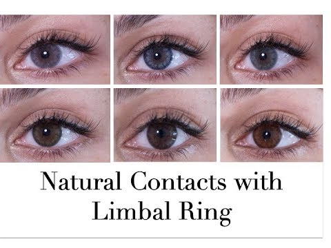Natural Contacts Siesta Crystal Halo Review Natural Contacts With Limbal Ring //Rose Léonie