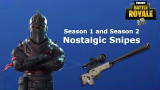 Nostalgic Fortnite Snipes From Season 1 and 2! (I Was a Sniping god)